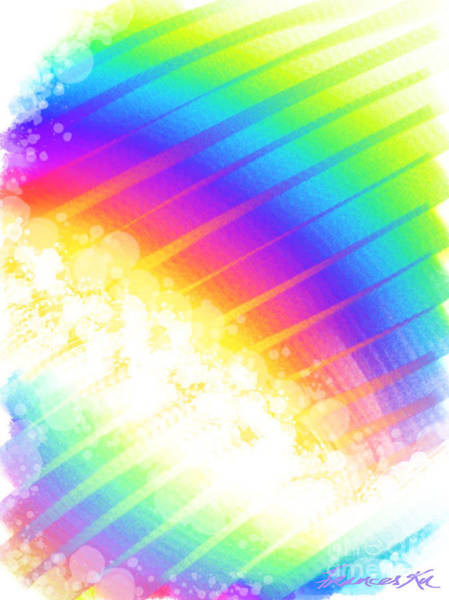 Digital Art - Rainbow Showers by Frances Ku