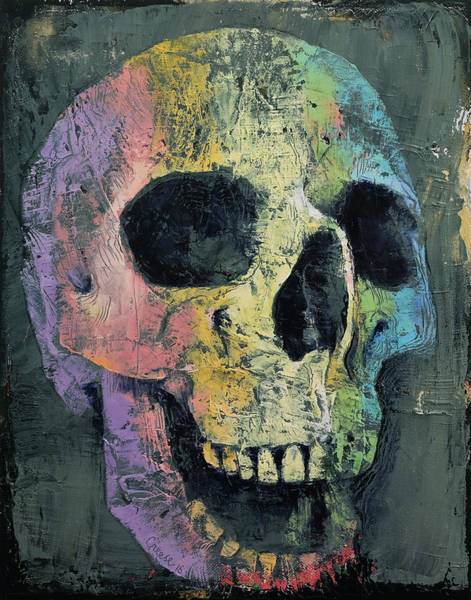 Skulls Wall Art - Painting - Happy Skull by Michael Creese