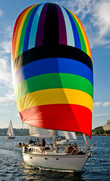 Rainbow Spinaker Art Print by Tom Dowd