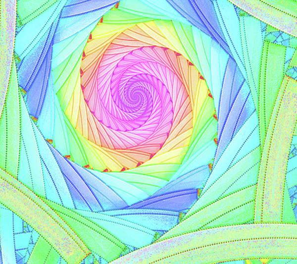 Digital Art - Rainbow Spiral by Kelly Dallas