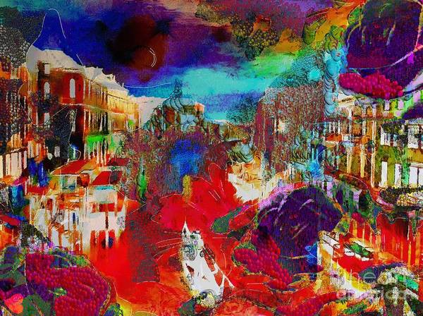 Painting - Rainbow Splattered Abstracts In Italy by Catherine Lott