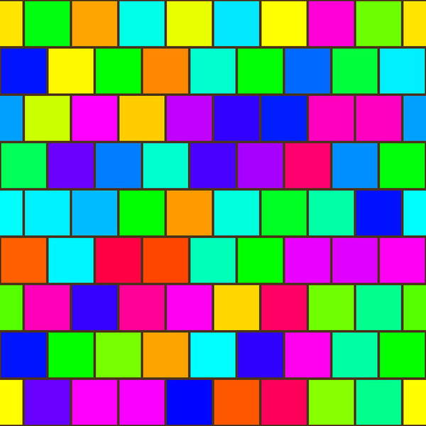 Wall Art - Digital Art - Rainbow Tiles by Miroslav Nemecek