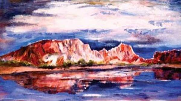 Painting - Rainbow Valley, N.t. by Ryn Shell