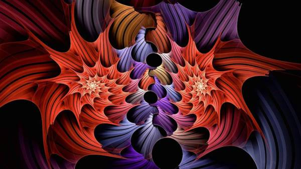 Digital Art - Rainbow Vortex 16x9 by Doug Morgan