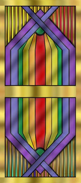 Digital Art - Rainbow Wall Hanging by Chuck Staley