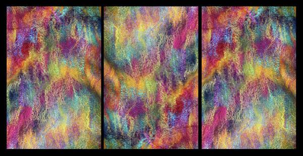 Photograph - Rainbow Waterfall Triptych by Marina Schkolnik