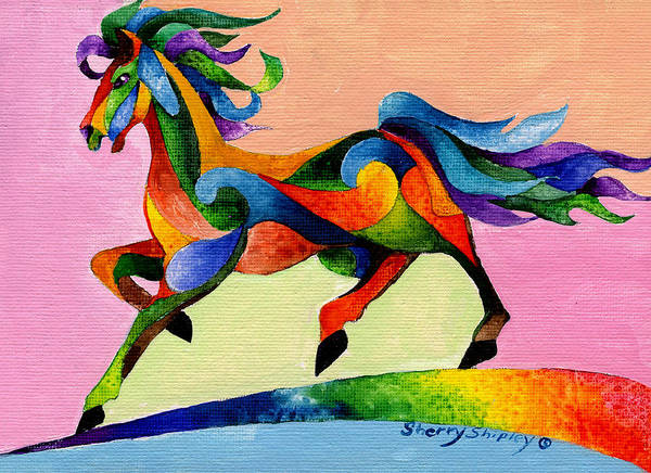 Painting - Rainbow Wind by Sherry Shipley
