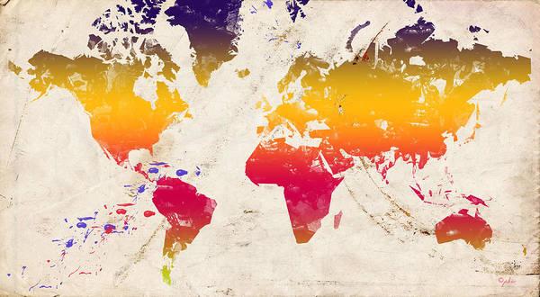 East Africa Digital Art - Rainbow World by Paulette B Wright