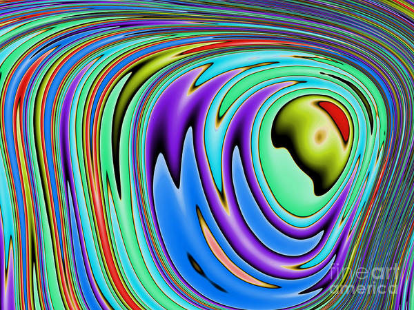 Wall Art - Digital Art - Rainbow In Abstract 02 by John Edwards