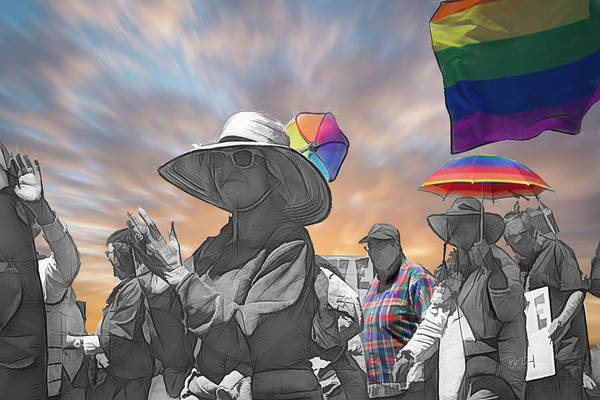 Gay Pride Flag Photograph - Rainbowparade by Bill Posner