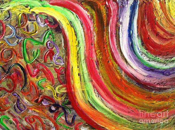 Painting - Rainbows And Puzzels by Sarahleah Hankes