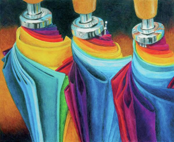Painting - Rainbrellas by Rhonda Dicksion