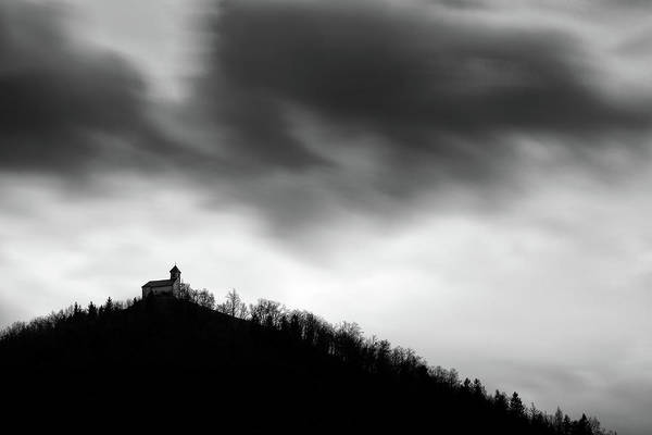 Wall Art - Photograph - Rainclouds Over Church by Ian Middleton
