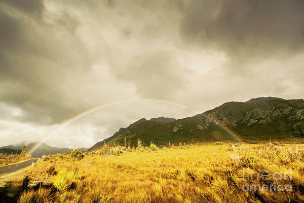 Natural Photograph - Raindrops In Rainbows by Jorgo Photography - Wall Art Gallery