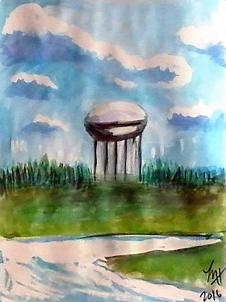 Raines Road Watertower Art Print