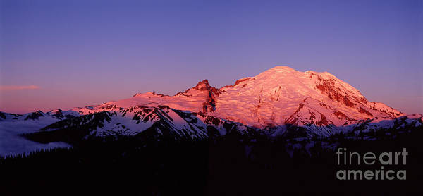 Photograph - Rainier At Sunrise by Warren Photographic