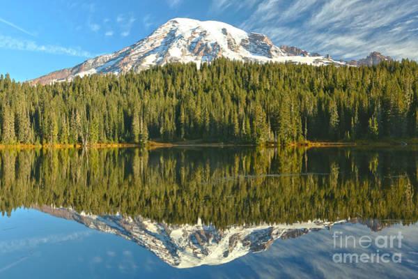 Photograph - Rainier Cloud Reflections by Adam Jewell