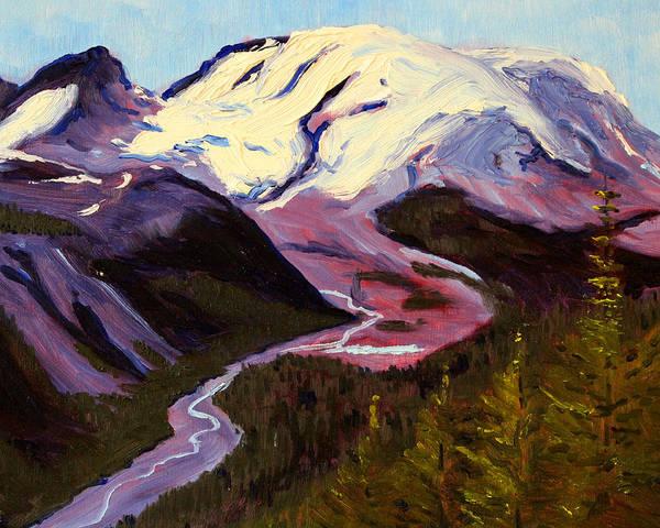 Tacoma Painting - Rainier by Nancy Merkle