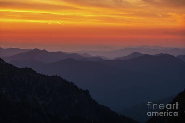 Wall Art - Photograph - Rainier National Park Sunset Layers by Mike Reid