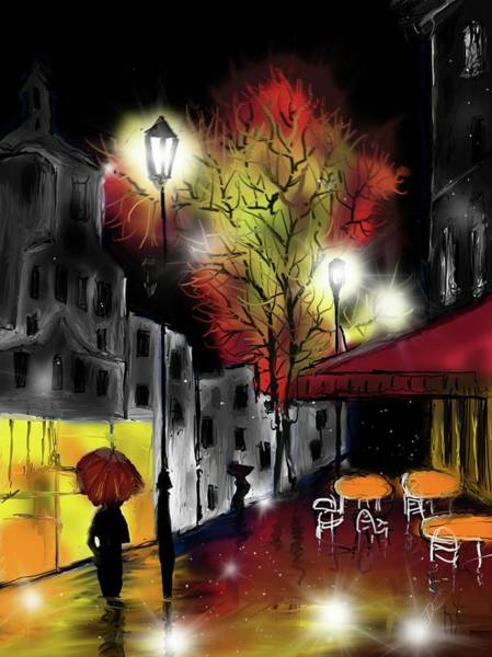 Digital Art - Raining And Color by Darren Cannell