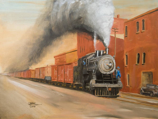 Wall Art - Painting - Raining Cinders by Christopher Jenkins