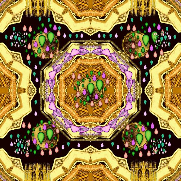 Wall Art - Mixed Media - Raining Love Peace Over  Creation Of Life by Pepita Selles