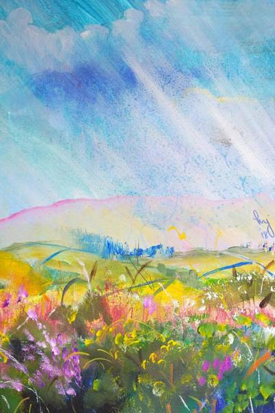 Painting - Raining On Dartmoor Landscape Painting by Mike Jory