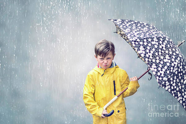 Young Boy Photograph - Rainman by Evelina Kremsdorf