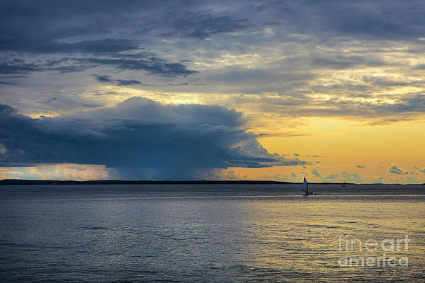 Wall Art - Photograph - Rainstorm Offshore by Diane Diederich