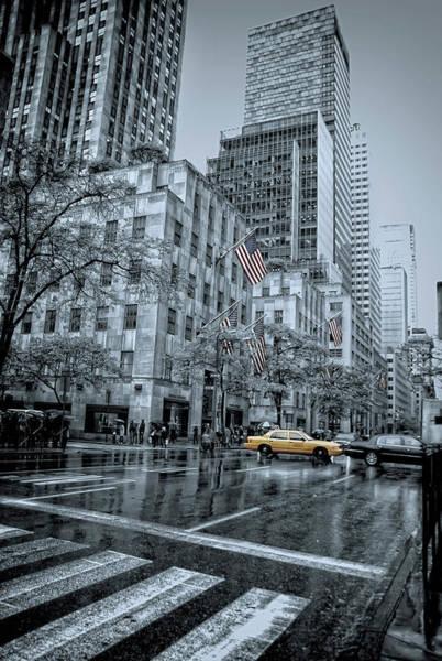 Ave Photograph - rainy 5th Ave by Joachim G Pinkawa