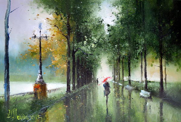 Painting - Rainy Autumn by Igor Medvedev