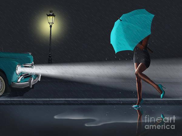 Clothing Mixed Media - Rainy Day 2 by Monika Juengling