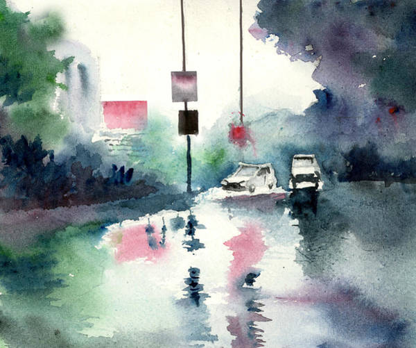 Painting - Rainy Day by Anil Nene
