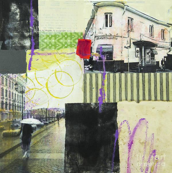 Mixed Media - Rainy Day by Elena Nosyreva