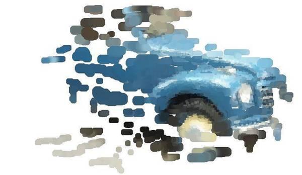 Fragment Digital Art - Rainy Day by Gra Howard