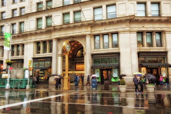 Photograph - Rainy Day In The Flatiron District by Alison Frank