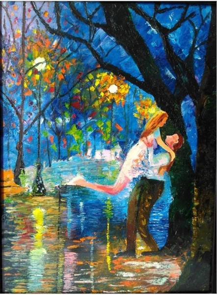 Dgt Wall Art - Painting - Rainy Day Love by Anie