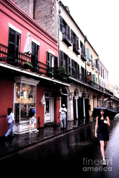Digital Art - Rainy Day On Bourbon Street by Thomas R Fletcher