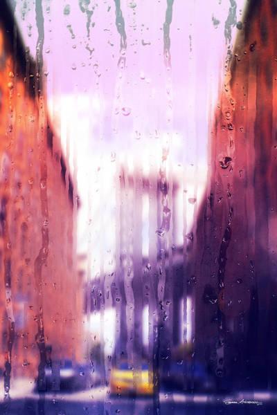 Digital Art - Rainy Days In New York - The Brooklyn Bridge by Serge Averbukh