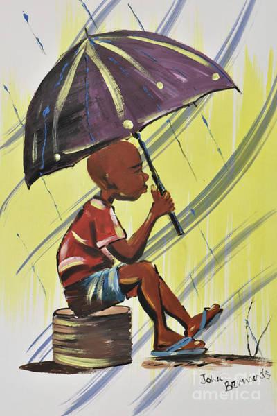 Nigeria Painting - Rainy Days by John Bernards