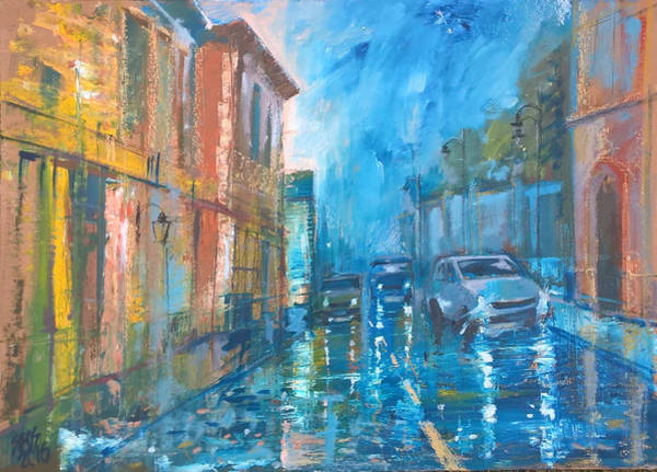 Painting - Rainy Friday by Lorand Sipos