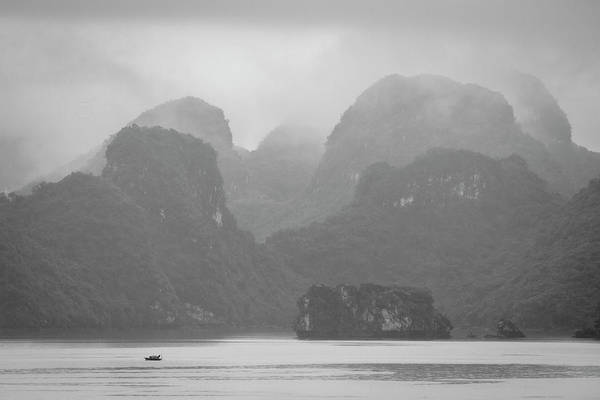 Photograph - Rainy Ha Long Bay, Ha Long, 2014 by Hitendra SINKAR