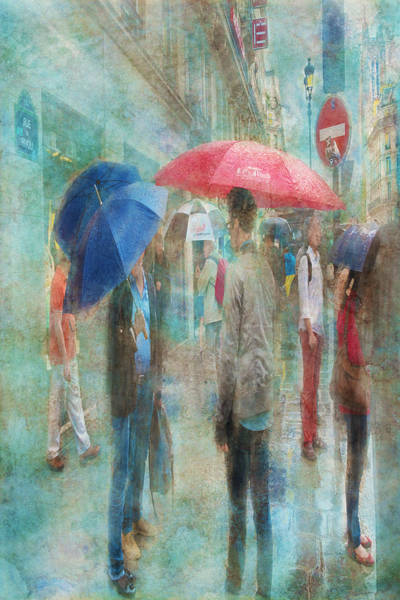 Digital Art - Rainy In Paris 6 by Ramona Murdock