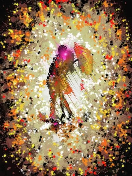 Digital Art - Rainy Love by Darren Cannell