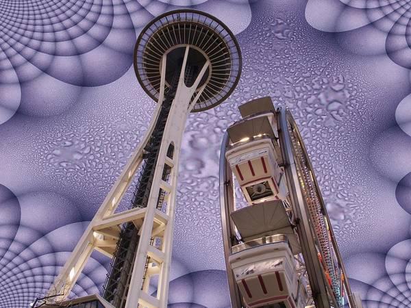 Purple Rain Digital Art - Rainy Needle by Tim Allen