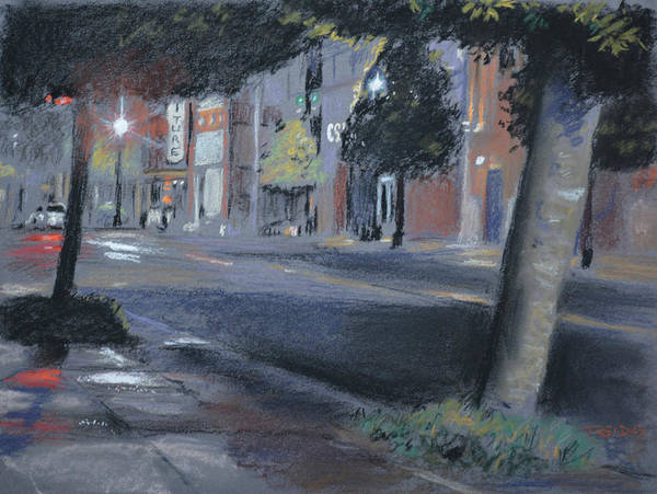 Painting - Rainy Night by Christopher Reid