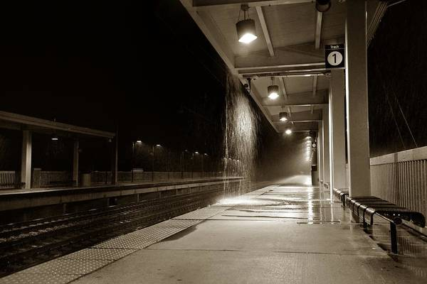 Photograph - Rainy Night In Baltimore by Ron Cline