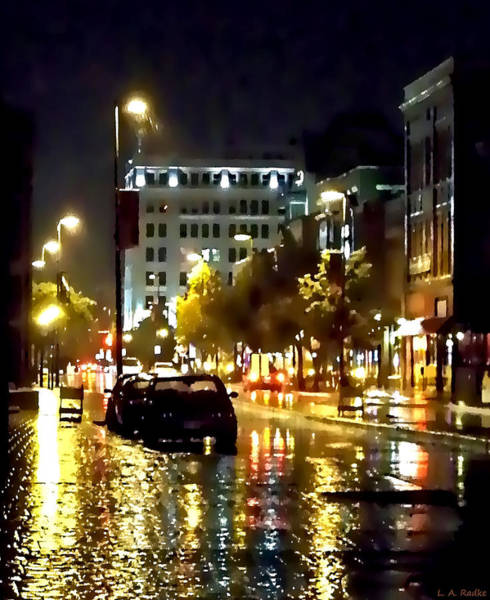 Photograph - Rainy Night In Green Bay by Lauren Radke