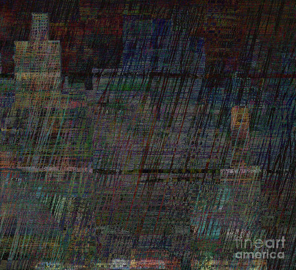 Manchester Digital Art - Rainy Night In Manchester by Andy  Mercer