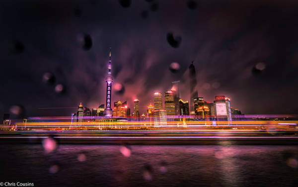 Photograph - Rainy Night In Shanghai by Chris Cousins